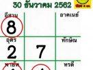 เข้าทั้งบนทั้งล่าง เลขไทยรัฐ เฮงส่งท้ายปี 62