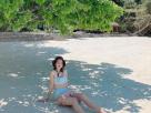 """""""โบว์ เมลดา"""" อวดภาพน่ารักๆปนเซ็กซี่ บนชายหาดเกาะนาวโอพี ทะเลพม่า"""